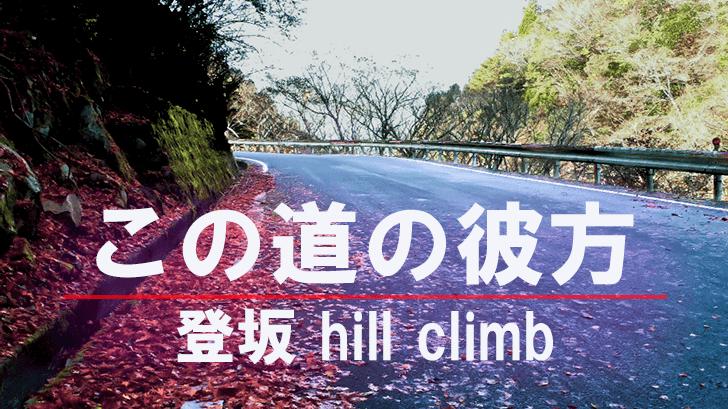 この道の彼方、登坂