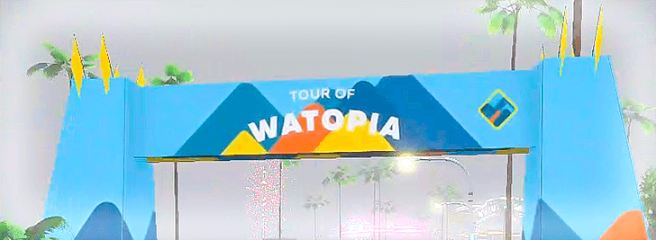 ゴールアーチ_tour of watopia