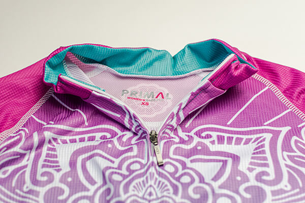 Primal Women's Serenity Evo Jersey Colorful_首元