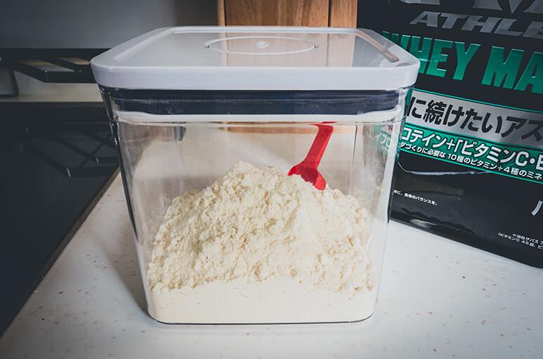 プロテインを小分けに容器に保管